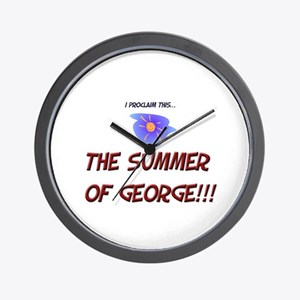 The Summer of George! Wall Clock