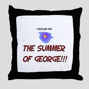 The Summer of George! Throw Pillow