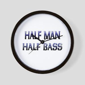 Half Man Half Bass Wall Clock