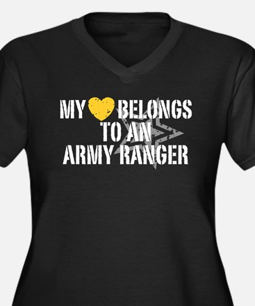 My Heart Belongs to an Army Ranger Women's Plus Si