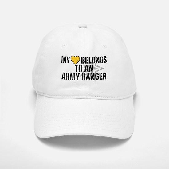 My Heart Belongs to an Army Ranger Baseball Baseball Cap