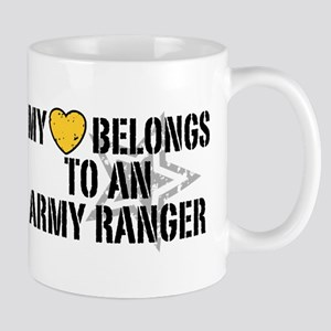 My Heart Belongs to an Army Ranger Mug