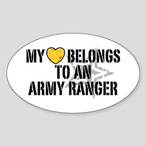 My Heart Belongs to an Army Ranger Oval Sticker
