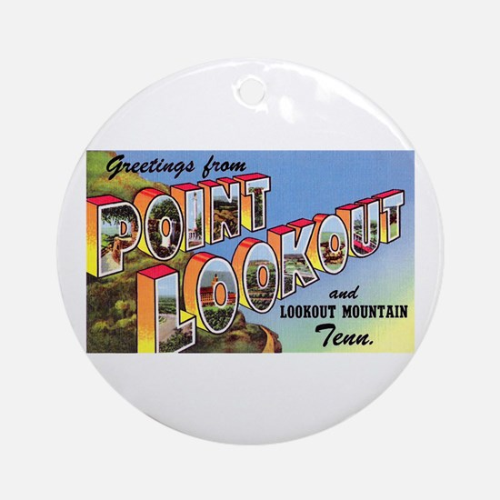 Point Lookout Tennessee Ornament (Round)