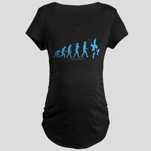 Evolution Blue Maternity Dark T-Shirt