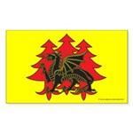 Drachenwald Populace Rectangle Sticker 10 pk)
