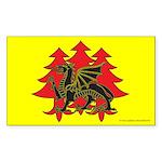 Drachenwald Populace Rectangle Sticker
