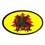 Drachenwald Populace Oval Sticker (50 pk)