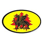 Drachenwald Populace Oval Sticker (10 pk)