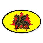 Drachenwald Populace Oval Sticker