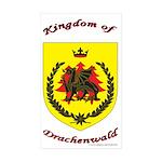 Kingdom of Drachenwald Rectangle Sticker 50 pk)