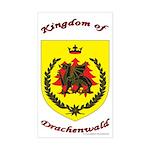 Kingdom of Drachenwald Rectangle Sticker