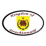 Kingdom of Drachenwald Oval Sticker (10 pk)