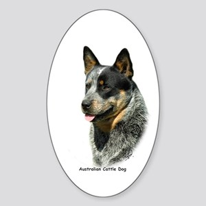 Australian Cattle Dog 9F061D-05 Sticker (Oval)