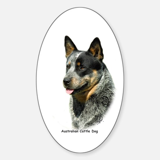 Australian Cattle Dog 9F061D-05 Sticker (Oval)