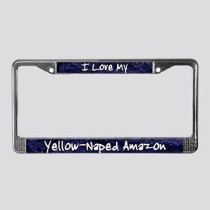 Funky Love Yellow Naped Amazon License Plate Frame