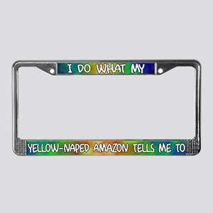 Do what Yellow-Naped Amazon License Plate Frame