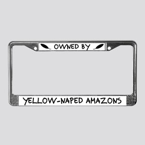 Owned by Yellow-Naped Amazons License Plate Frame