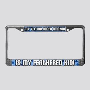 Ylw Naped Amazon Feathered Kid License Plate Frame