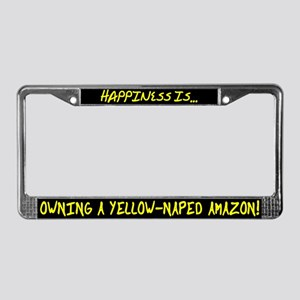 HI Owning Yellow Naped Amazon License Plate Frame