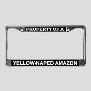 Property of Yellow-Naped Amazon License Frame