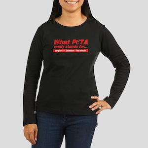 whatPETAstands4 Long Sleeve T-Shirt
