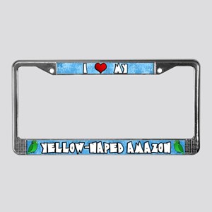 Crtn Love Yellow-Naped Amazon License Plate Frame
