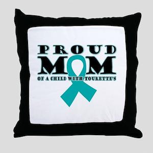 Tourette's Proud Mom Throw Pillow
