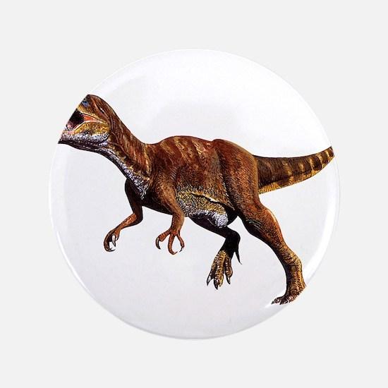 """Allosaurus Jurassic Dinosaur 3.5"""" Button"""