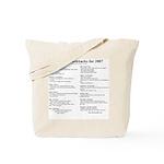 MA's Flashbacks 2007 Tote Bag