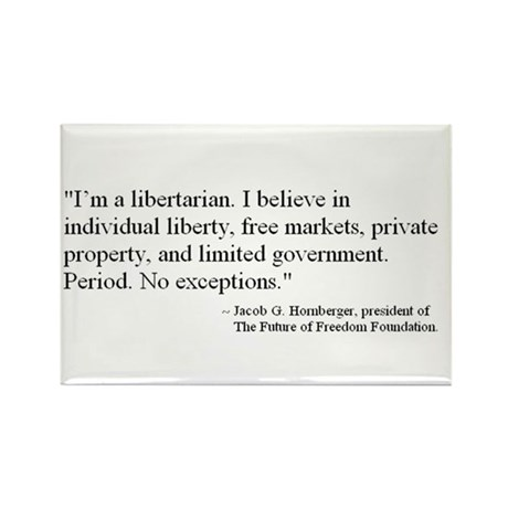 FFF Libertarian Quote Rectangle Magnet