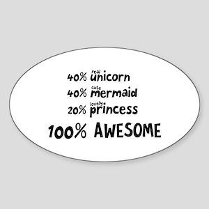 Unicorn Mermaid Princess C5i9v Sticker