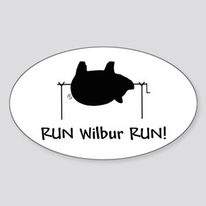 RUN Wilber RUN Oval Sticker