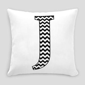 Black and White Chevron Letter J Monogram Everyday