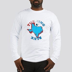 Turning Texas Blue Long Sleeve T-Shirt