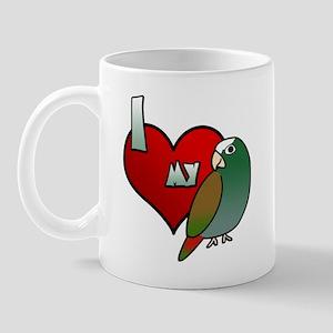 Love White Capped Pionus Mug