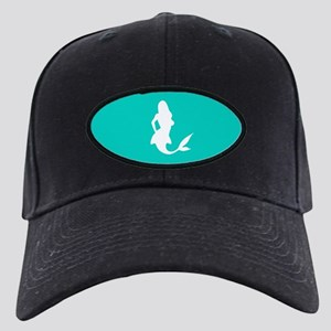 Mermaid (Aqua) Black Cap with Patch