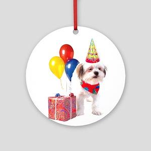 Birthday puppy Ornament (Round)