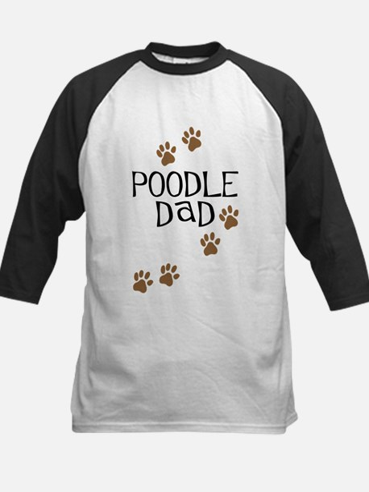 Poodle Dad Kids Baseball Jersey