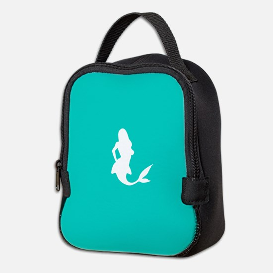Mermaid (Aqua) Neoprene Lunch Bag