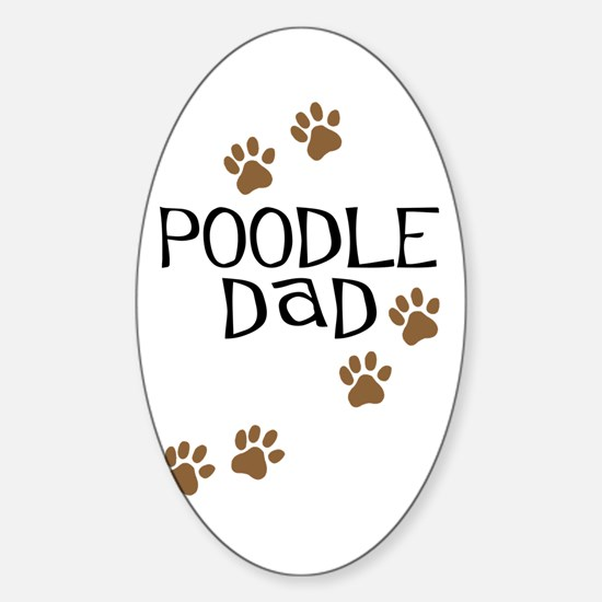 Poodle Dad Oval Decal