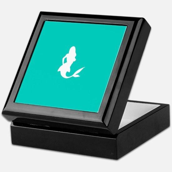 Mermaid (Aqua) Keepsake Box