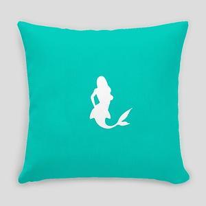 Mermaid (Aqua) Everyday Pillow
