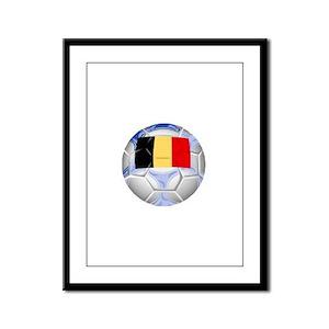 Belgium Soccer Framed Panel Print