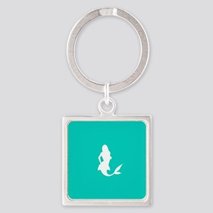 Mermaid (Aqua) Square Keychain
