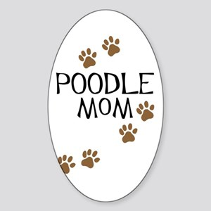 Poodle Mom Oval Sticker