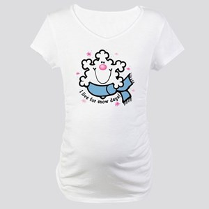 Snowflake Snow Days Maternity T-Shirt
