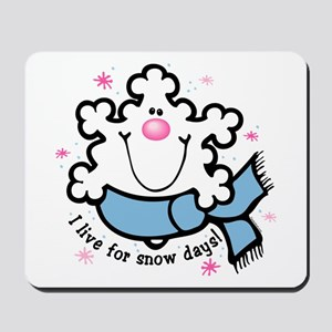 Snowflake Snow Days Mousepad