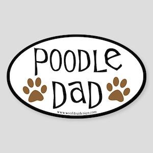 Poodle Dad Oval Oval Sticker