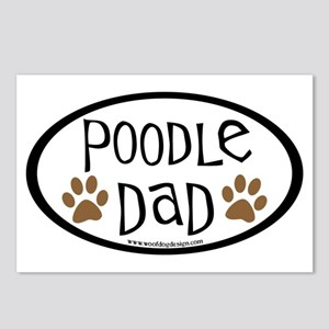 Poodle Dad Oval Postcards (Package of 8)